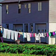 Hanging Laundry Poster