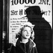 Hanna Maron And The Shadow Of Peter Lorre In M  1931 Poster