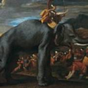 Hannibal Crossing The Alps On Elephants By Nicolas Poussin, 1625-1626. Poster
