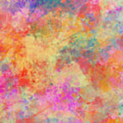 Happiness Abstract Painting Poster