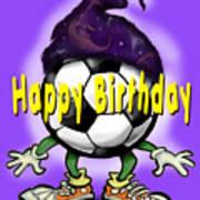 Happy Birthday Soccer Wizard Poster