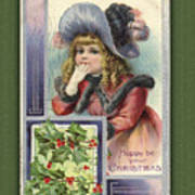 Happy Christmas Vintage Card  Poster