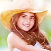 Happy Cute Girl Portrait Poster