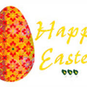 Happy Easter Abstract Greeting Card Art By Omaste Witkowski  Poster