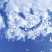 Happy Face Sky Poster