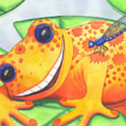 Happy Frog Poster