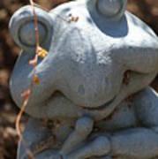 Happy Garden Frog  Poster