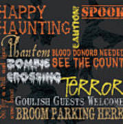 Happy Haunting Typography Poster