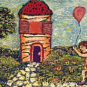 Happy In The Garden Poster