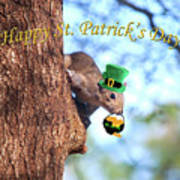 Happy St. Pat's Day Card Poster