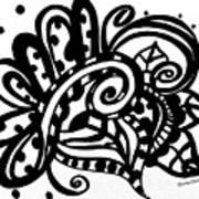 Happy Swirl Doodle Poster