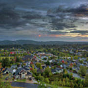 Happy Valley Residential Neighborhood During Sunset Poster