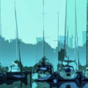 Harbor Impression Poster
