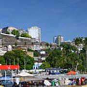 Harbor In Salvador Da Bahia Brazil Poster