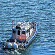 Harbor Police Patrol Boat Poster