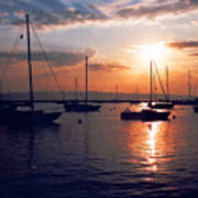 Harbor Sunrise Poster