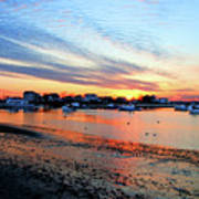 Harbor Sunset At Low Tide Poster
