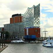 Harbor View With Elbphilharmonie Poster