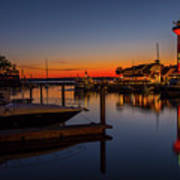 Harbour Town Lighthouse Sunset Poster