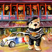 Hard Rock Cafe Teddy Bear From Paris Poster