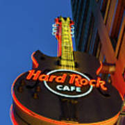 Hard Rock Guitar Detroit Poster