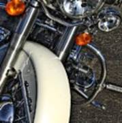 Harley Frontal In White Poster
