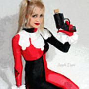 Harley Quinn And Pistol Poster