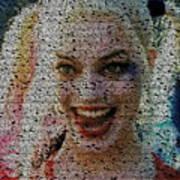 Harley Quinn Quotes Mosaic Poster