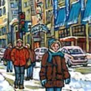 Achetez Les Meilleurs Scenes De Rue Montreal Best Original Art For Sale Montreal Streets Paintings Poster