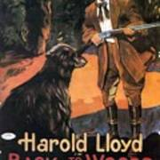 Harold Lloyd In Back To The Woods 1919 Poster