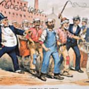 Harrison Cartoon, 1888 Poster