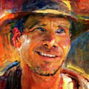 Harrison Ford Indiana Jones Portrait 3 Poster