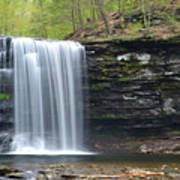 Harrison Wright Falls Spring Poster