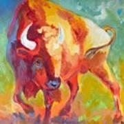 Hartsel Bison In Springtime Poster