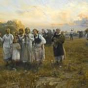 Harvest Festival By Alfred Wierusz-kowalski 1849-1915 Poster