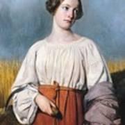 Harvester Holding Her Sickle Poster by AJB Hesse