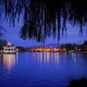 Harveston Lake At Night Poster