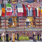 Hassam: Allied Flags, 1917 Poster