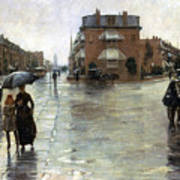 Hassam: Rainy Boston, 1885 Poster