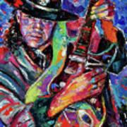 Hat And Guitar Poster by Debra Hurd