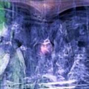 Haunted Caves Poster by Linda Sannuti