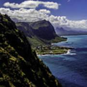 Hawaii Coastline Poster
