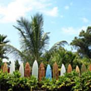 Hawaii Surfboard Fence Poster