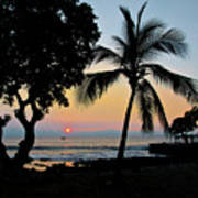 Hawaiian Big Island Sunset  Kailua Kona  Big Island  Hawaii Poster