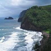 Hawaiian Black Sand Beach Poster