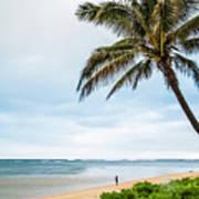 Hawaiian Boy Fishing Poster
