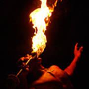 Hawaiian Luau Fire Eater Poster