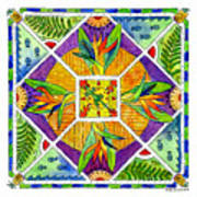 Hawaiian Mandala II - Bird Of Paradise Poster