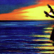 Hawaiian Sunset With Hula Dance  #183, Poster