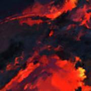 Hawaiian Volcano Lava Flow Poster